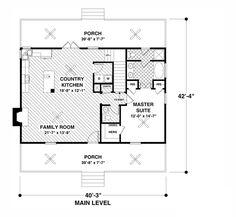 Cottage Style House Plan - 3 Beds 2.5 Baths 1666 Sq/Ft Plan #56-627 Floor Plan - Main Floor Plan - Houseplans.com