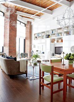 loft living #white #modern