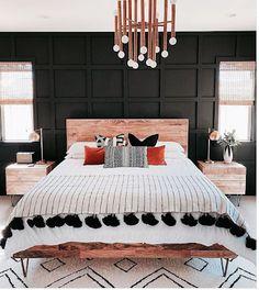 Home Interior Bedroom .Home Interior Bedroom Dream Bedroom, Home Decor Bedroom, Black Master Bedroom, Modern Boho Master Bedroom, Black Bedroom Furniture, Contemporary Bedroom, Black Bedroom Walls, Dark Cozy Bedroom, Masculine Master Bedroom