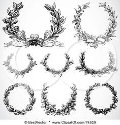 I'm really loving laurel wreath tattoos.