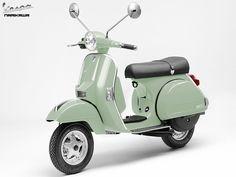 vespa | Download Vespa PX wallpaper, 'Light Green Vespa PX 200'.