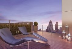 View from the terrace, Barratt London's Altitude, Aldgate - walk to the City from your home here