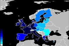 De landen van de europese unie ket de jaartallen erbij.