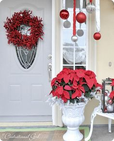 kate ~ Censational Girl's - front porch christmas