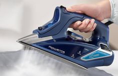 Rowenta Steam Iron, Stainless Steel Soleplate, Digital LED Display, Blue for sale online Best Iron To Buy, Rowenta Steam Iron, Best Steam Iron, Iron Reviews, How To Iron Clothes, Old Bottles, Best Brand, Cool Outfits, Stainless Steel