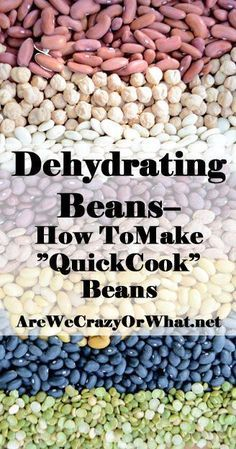 Step by step directions for dehydrating beans or making quick cook beans. (If the link doesn't work a website link is in the comments) Emergency Food, Survival Food, Survival Kit, Canned Food Storage, Long Term Food Storage, How To Cook Beans, Backpacking Food, Camping Gear, Dehydrator Recipes