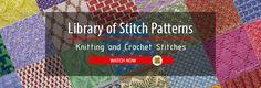 Library of Stitch Patterns - Knitting and Crochet Stitches
