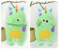 PATTERN  Cute Monster Kuboo crochet amigurumi by HavvaDesigns