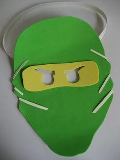 Ninjago Glow in the Dark Mask Craft Kit  http://www.TheCraftyKids.com https://www.facebook.com/TheCraftyKids
