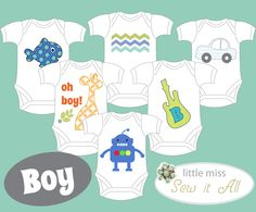 DIY Onesie Party for a BOY Baby!