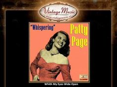 Patti Page Whith My Eyes Wide Open (VintageMusic.es) : Patti Page Whith My Eyes Wide Open (VintageMusic. Pop Singers, Female Singers, Listening To Music, Singing, Patti Page, Musica Pop, Film Music Books, Holiday Cocktails, Woodland Party