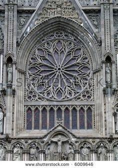 Famous Trondheim cathedral - Nidarosdomen. Norway city landmark. - stock photo