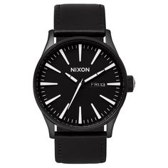 Nixon Sentry Leather Black/White