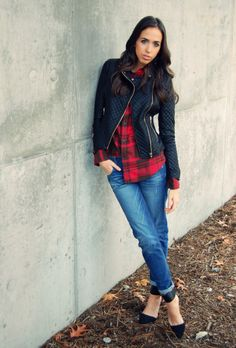 What I Wore: Men's Flannel & BF Jeans   frivolousfringe