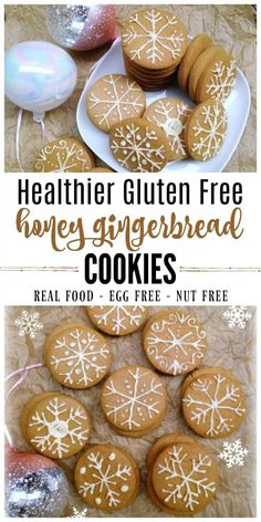 These Gluten Free Honey Gingerbread Cookies are delicious, soft and chewy cookies and perfect for the holidays! The recipe is similar to the nostalgic cookie from The Nut Tree. They're molasses-free, nut-free and egg-free too! | Recipes to Nourish // #gingerbreadcookies #glutenfree #allergyfriendly #christmascookies #eggfree via @recipes2nourish