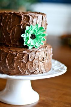 I hope you don't mind another cake photo, but I just love love love cakes. I made this simple chocolate cake for my sister-in-laws birthday last weekend. I couldn't just leave it a plain ole chocol...