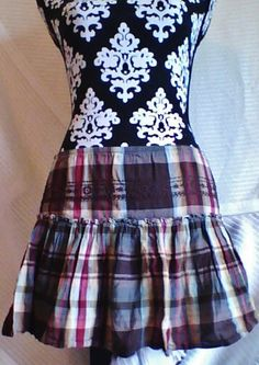 OLD NAVY ruffled plaid skirt cheap ship cost!