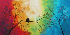 LOVE BIRDS Original Oil Paintings by Larry Wall