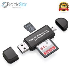 USB OTG Adapter and USB 2.0 Portable Memory Card Reader for SDXC, SDHC, SD, MMC #Vanja
