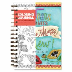 Coloring Scripture Journal, Jesus Makes All Things New #books #journals #diaries #journaling #prayer #accessories #home #decor #homedecor #inspiration #faith #brownlowgifts #brownlow #faith #scripture