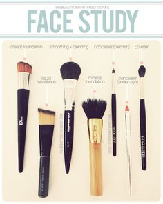 Makeup Brushes for Your Face from The Beauty Department here. Photo by Amy Nadine, graphic design by Eunice Chun.