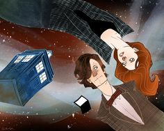 The Doctor and Amy Pond by kevinwada.deviantart.com on @deviantART