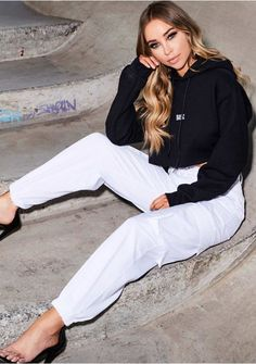 f9595aa09c3 Jackie White Cargo Trousers Missy Empire Trousers