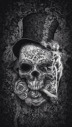 To match my girl sugar skull i have now! Candy Skulls, Candy Skull Tattoos, Digital Art Illustration, Skull Illustration, Datum Tattoo, Totenkopf Tattoos, Skull Artwork, Skull Drawings, Sugar Skull Art