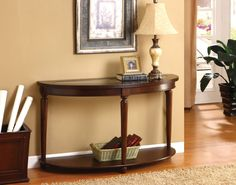 Moona Transitional Sofa Table