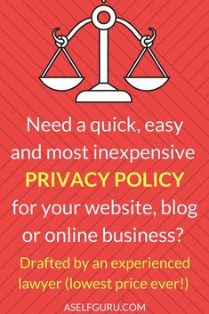 LEGAL BUNDLE FOR YOUR WEBSITE Get All Your Legal Pages Privacy - Blog privacy policy template
