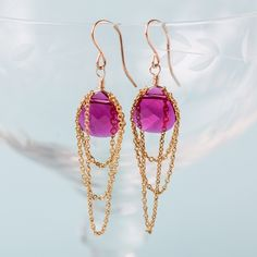 Fanciful and fashion-forward, these earrings will dress up your evening wear.