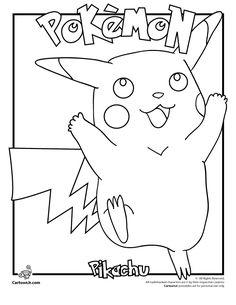 Pikachu Coloring Pages Pokemon Page Cartoon Jr