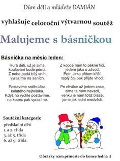 básničky pro děti - Hledat Googlem Aa School, School Clubs, Kids And Parenting, Kindergarten, Projects To Try, Humor, Children, Sports, Winter