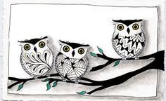 Owls of tangled cuteness.