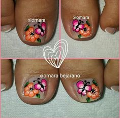 Pedicure Designs, Toe Nail Designs, New Nail Art Design, Magic Nails, Feet Nails, Cute Toes, Toe Nail Art, Beautiful Nail Art, Manicure And Pedicure