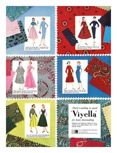 1958 Viyella ad | Flickr - Photo Sharing! Vintage Advertisements, Ads, Love Sewing, Dressmaking, Vintage Sewing, Vintage Fashion, Kids Rugs, Colours, Wool