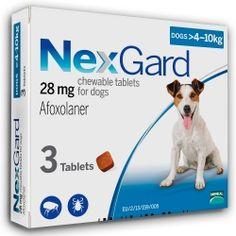 Merial NexGard (M) - таблетки от блох и клещей для собак от 4 до 10 кг