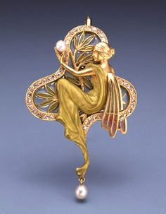 Alfonse Mucha. Brooch. -----------Transforming Light. Into Light. ------------ Femininity is about having the power of creating life within and outwardly, and nurturing its growth.