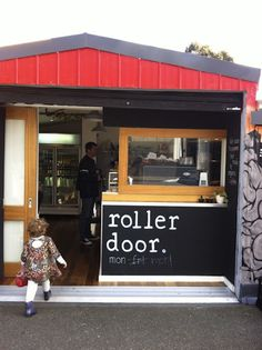Roll up your garage door to open your cafe or takeout business in the morning. Clever!