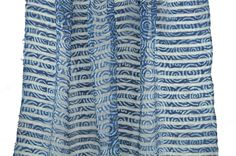 Silk Cloth handwoven, hand-dyed, and block-printed with natural dyes in Hyderabad, India.
