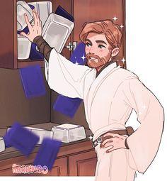 Star Wars Drawings, Star Wars Fan Art, Star Wars Humor, Star Wars Clone Wars, Obi Wan, Star Wars Characters, Tentacle, Rogues, High Ground