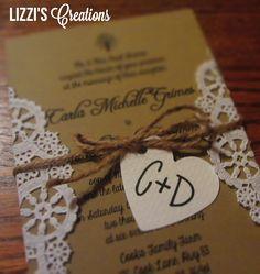 cheap diy rustic wedding invitations - Google Search