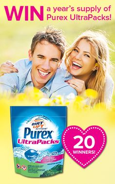 *THIS SWEEPSTAKES HAS ENDED* REPIN if you'd love to win a year's supply of Purex UltraPacks!