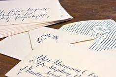 calligraphy envelope liner + return address back flap.