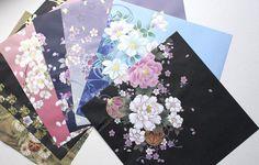 Origami paper pack Kimono Yuzen japanese paper washi by AntnFrog, $4.95