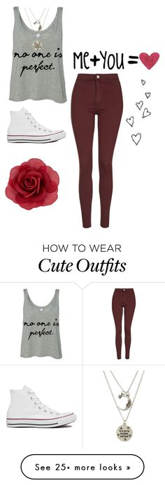 """Perfect isn't real"" by emzing-horton on Polyvore featuring Topshop, Katie, Accessorize, Brinley Co, Converse, women's clothing, women's fashion, women, female and woman"