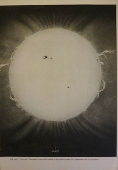 1950's Original Sun & Earth Vintage Astronomy Planet Astrology Print. $10.00, via Etsy.