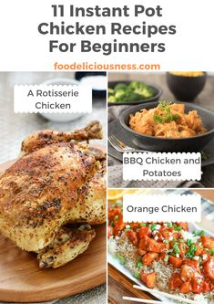 11 Instant Pot Chicken Recipes For Beginners Side Dishes For Chicken, Easy Chicken Dinner Recipes, Chicken Wing Recipes, Ip Chicken, Chichen Recipe, Thanksgiving Recipes, Winter Recipes, Christmas Recipes, Brunch Recipes