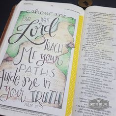 Bible Journaling Psalm 25:4 from Sweet To The Soul [path, truth] color page