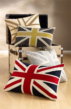 Nordstrom at Home 'Union Jack' Beaded Pillow Cover | Nordstrom.  I am in LOVE with these!